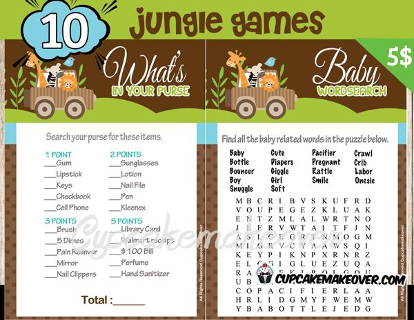 Celebrate Your Baby Boyu0027s Arrival With Roaring Fun With Our Jungle Themed  Baby Shower Games.