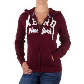 Hoodie zippé à capuche bordeaux - Aéropostale @ my-store.ch