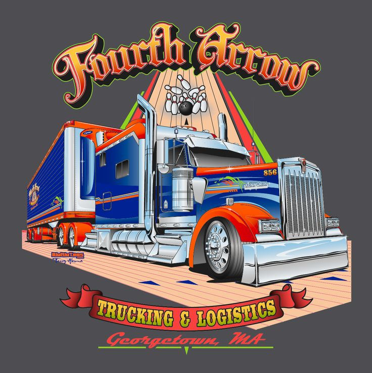Fourth Arrow Trucking | Terry Akuna's Trucking Industry Portfolio | Pinterest | More best Semi ...