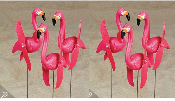 Details about 6 pink FLAMINGO wind spinners Pinwheel bird ...