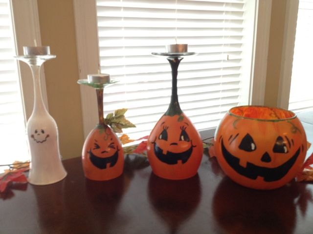make your own pumpkin candle holders for under 10$.. i saw these on etsy for 40$!
