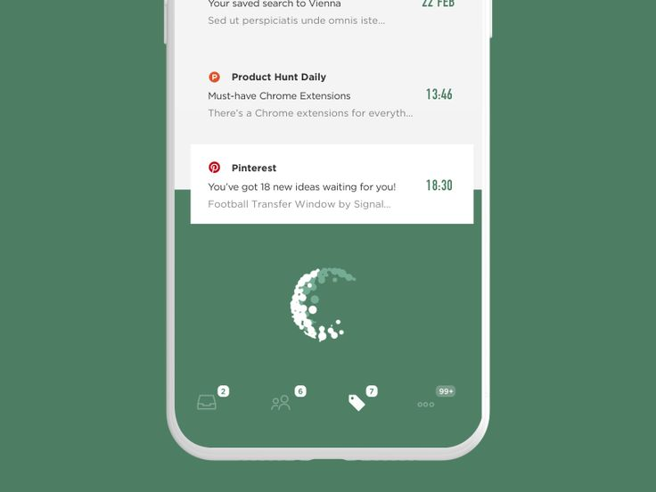 Emails Refreshing UI by Cuberto