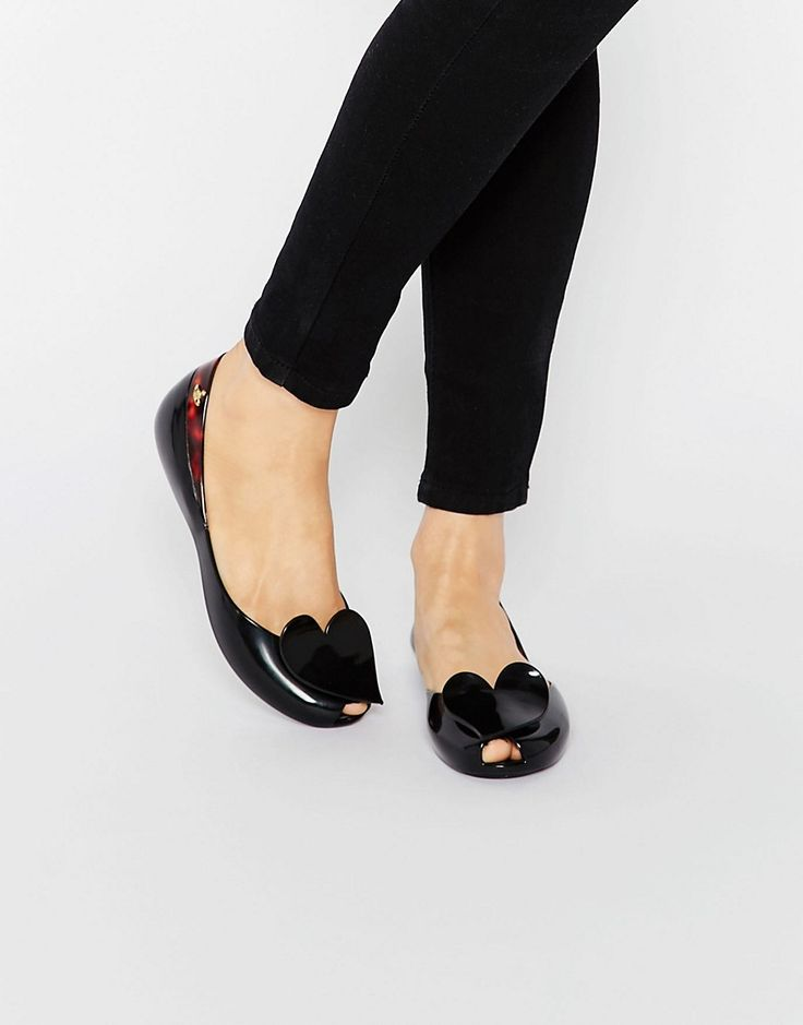 Image 1 ofVivienne Westwood for Melissa Queen Heart Flat Shoes