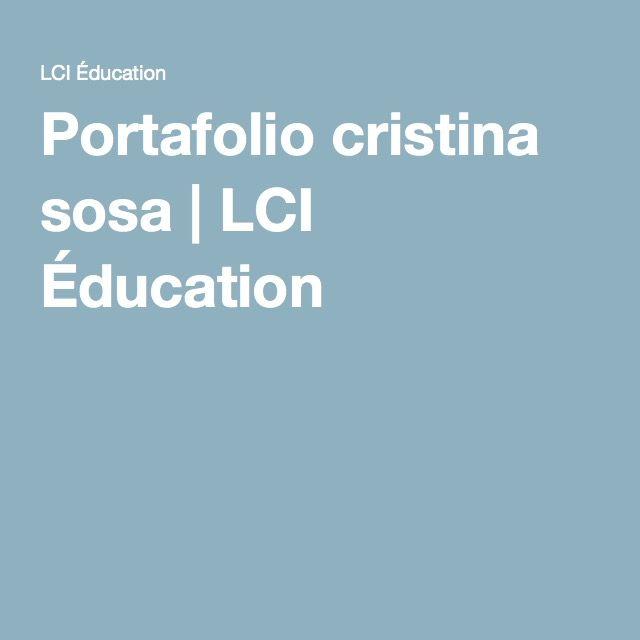 Portafolio cristina sosa | LCI Éducation