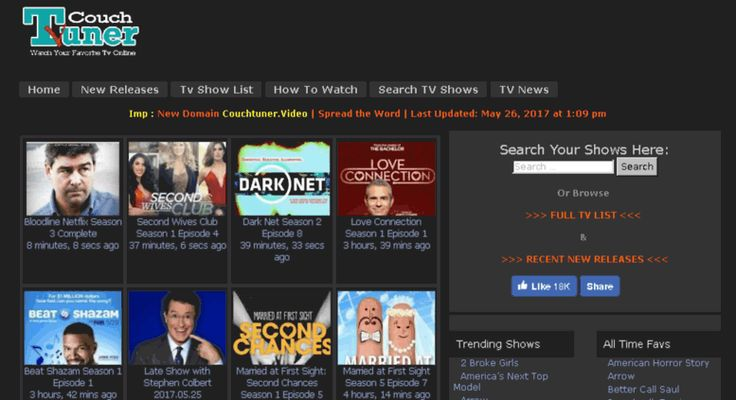 Stream TV shows online with Couch Tuner to keep up to date with your favorite series and find other great sites on this list for some exciting alternatives.
