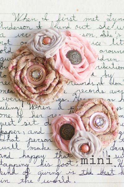 Try this! Fabric Flowers