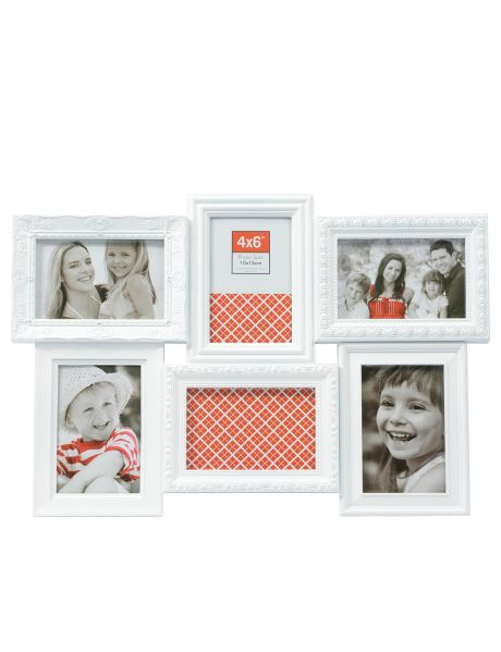Choose 6 of your favourite photos to create a montage of memories with this unique multifaceted photo frame.