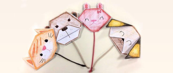 Origami: Hayvan Yüzleri Yapılışını görmek için: https://www.hobium.com/atolye/origami-hayvan-yuzleri