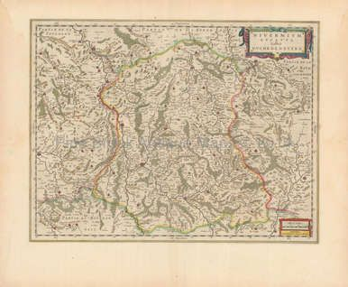 Bourges Avallon France Antique Map Blaeu 1650 in 2020