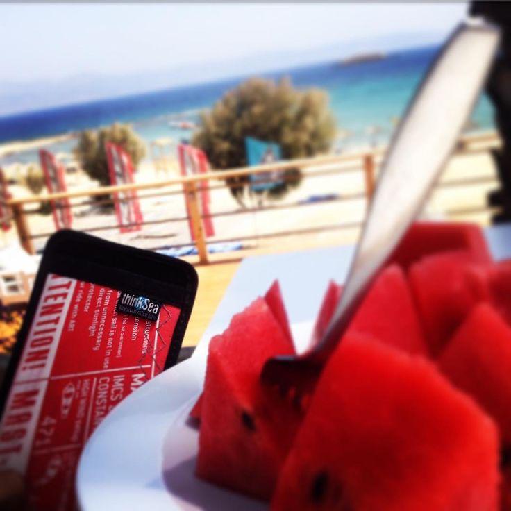 Relax mode on. Have some water melon! #iphonecase #greekislands #reuse #recycle #unique #urbanfashion #handcraft #summertime #madeingreece #paros #parosurfclub #windsurf #kiteboarding #sail #beachlife