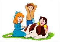 Peter, Clara, Heidi, and her Dog Joseph