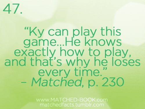 the book matched by ally condie