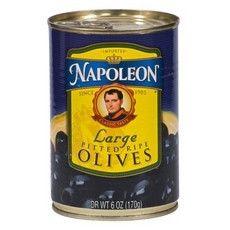 Napoleon Black Pitted Olives (12x6Oz)