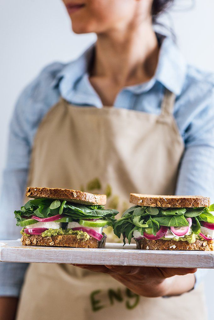 Feta Cheese Sandwich with herbs, avocado and pickled red onions is so flavourful that it can satisfy both vegetarians and meat lovers.