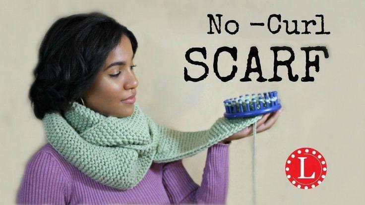 LOOM KNIT Scarf on Round Loom -  No Curl Garter Stitch Scarves - Beginner EASY