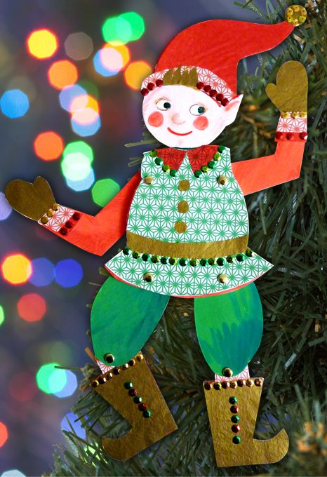 Le Lutin du Père Noël http://www.grandiravecnathan.com/bricolage/le-lutin-du-pere-noel.html