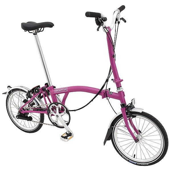 Brompton H6l Folding Bike Berry Crush Brompton Bicycle