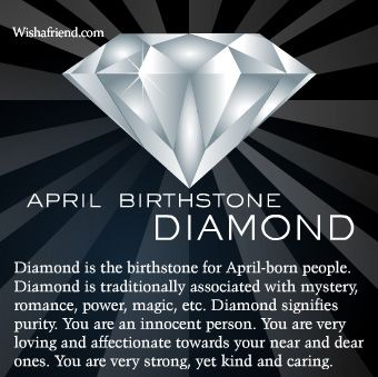 April Birthstone Diamond Born 4/29...good job honey!