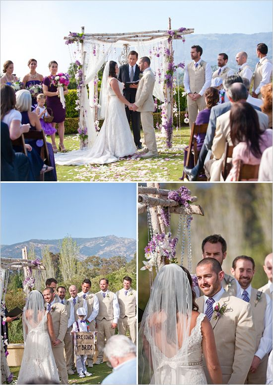 santa barbara vintage yet casual wedding wedding