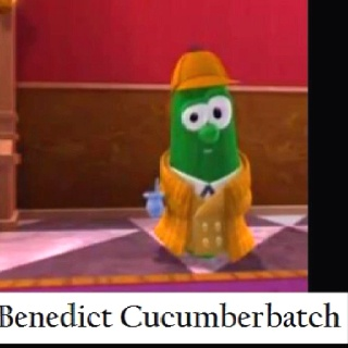 Veggie tales + Sherlock. Anyone?? This hit me half in the fan girl, and half in the childhood.