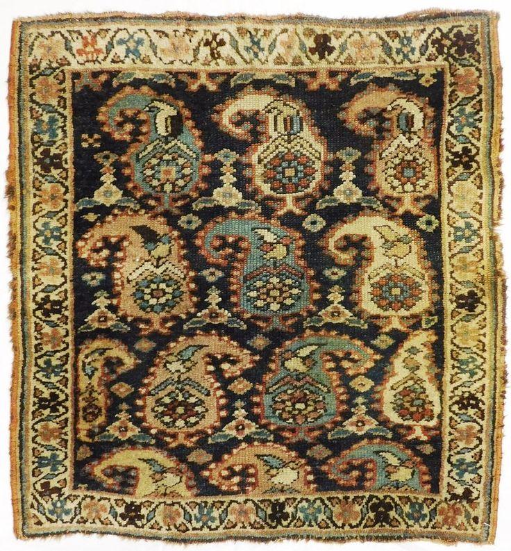 """NLR 745- Antique Kurdish accent rug. Reduced. 2'2""""x 2'4"""" #Antique #Kurdish"""