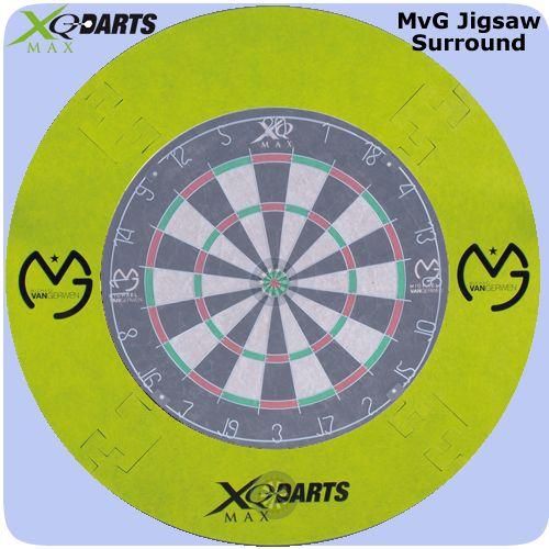 XQMax Michael van Gerwen Dartboard Surround - Lightweight EVA - MvG - Green - http://www.dartscorner.co.uk/product_info.php?products_id=19389
