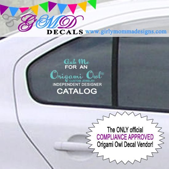 Origami owl catalogs on board decal compliance approved
