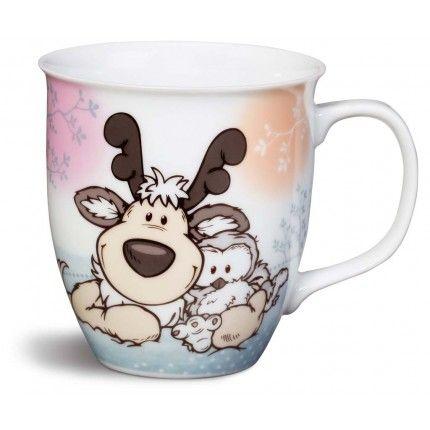 NICI Reindeer and Snowy Owl Mug