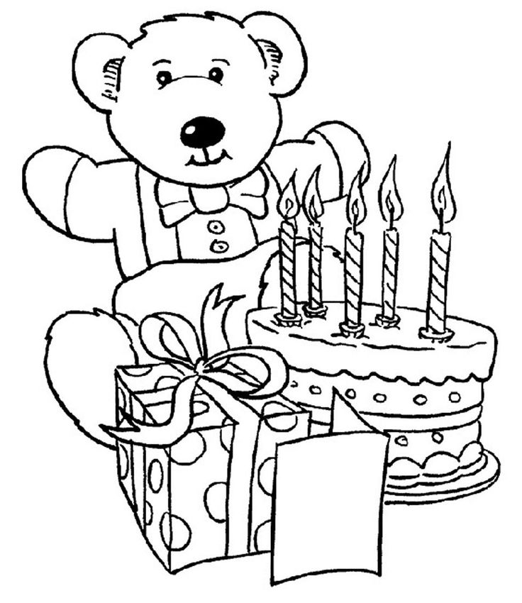Wish Your Family Friends With The Best Free Printable Happy Birthday Coloring Pages For Kids And Adults Find This Pin More On Teddy Bears
