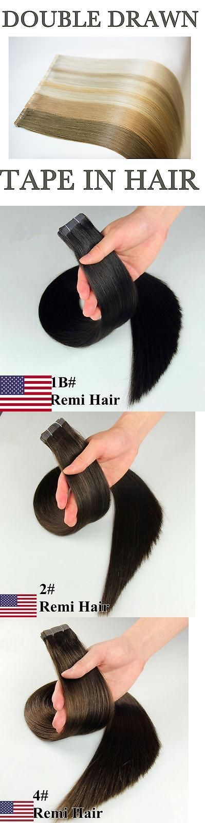 Hair Extensions: Best Quality Aaaaa 16 -24 Tape In 100% Premier Remy Human Hair Extensions Us -> BUY IT NOW ONLY: $37.76 on eBay!