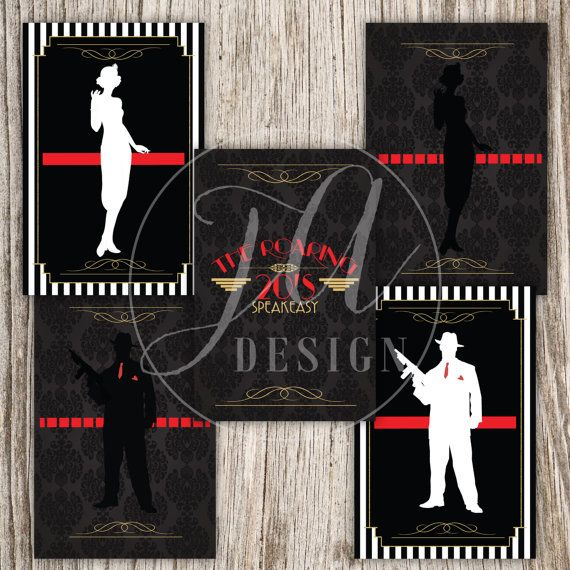 gangsters in the roaring 20s Shop roaring 20s art deco flapper girl and gangster card created by invitationboutique personalize it with photos & text or purchase as is.