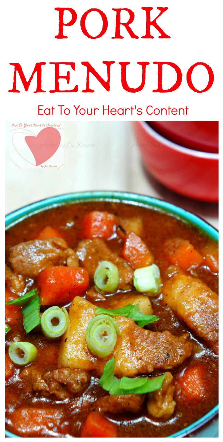 PORK MENUDO, rich thick tomato based sauce, tender pork cubes and colorful vegetables. This Pinoy Food Recipe is not only a must-try. You need to add this to your regular menu!