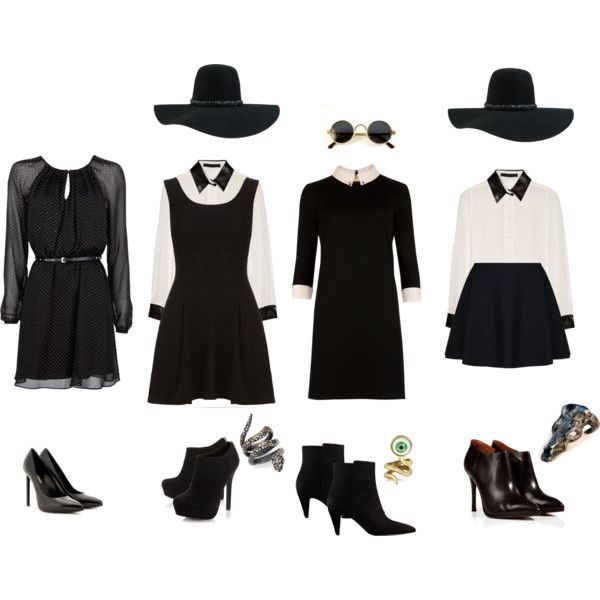 ahs/ american horror story coven diy witch costume, created by zombiemaggie on Polyvore