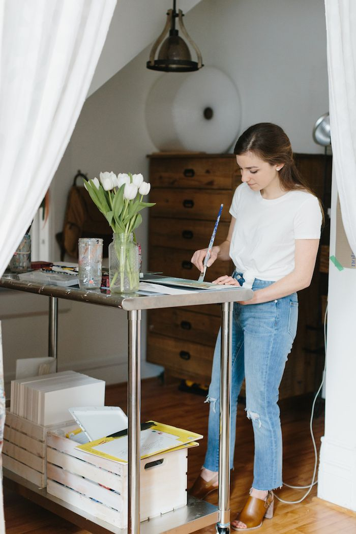 See How This Artist Maximizes Every Inch of Her 600 Sq Ft