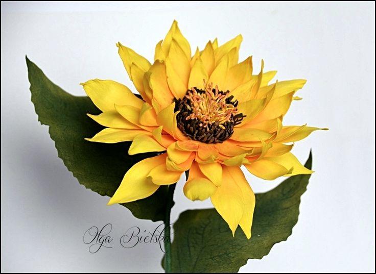 Foamiran sunflower. / Słonecznik z foamiranu.