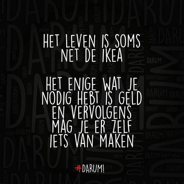 Het leven is soms net de ikea #Darum