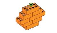 Sinasappel van lego (makkelijk)