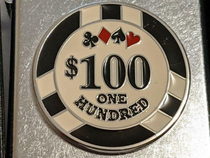 ZIPPO 100 POKER CHIP CASINO LIGHTER GAMBLING WINNING 2006