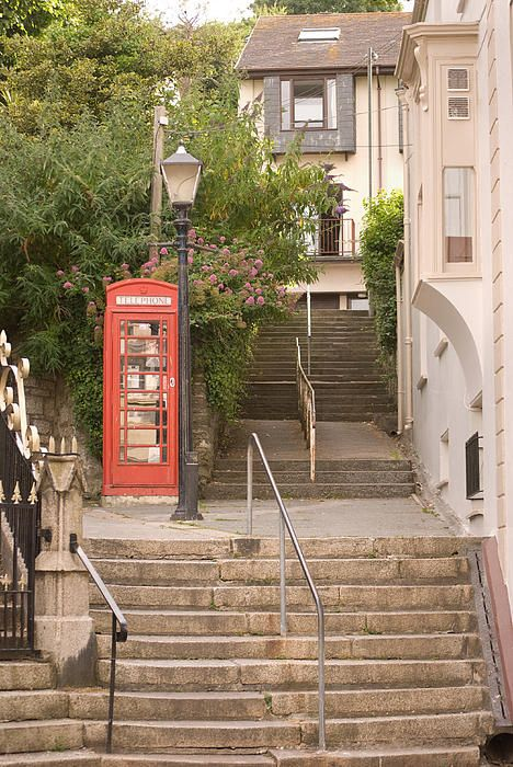 stairway between roads in Falmouth Cornwall
