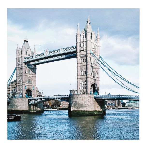 Πίνακας London Bridge Κάντε τη βόλτα σας στον ποταμό Τάμεση μέσα από αυτόν τον μαγευτικό πίνακα με φόντο γέφυρα του Λονδίνου. Υλικό: MDF, PVC