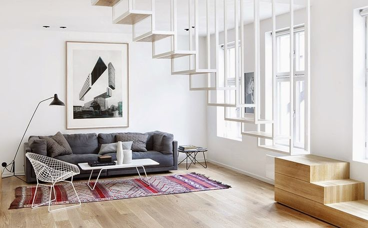 Floating staircase by Haptic Design