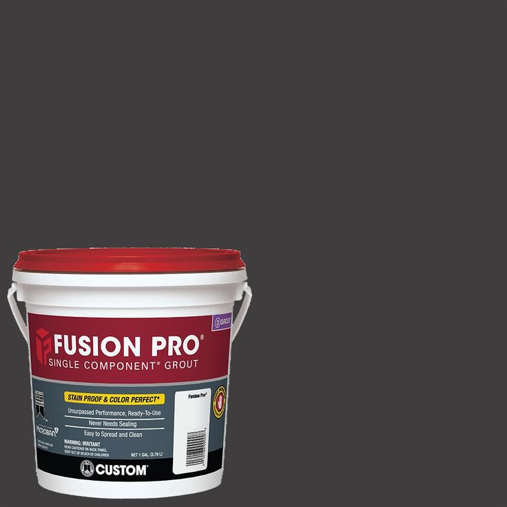 (.5 cm grout line)  Custom Building Products Fusion Pro #60 Charcoal 1 Gal. Single Component Grout