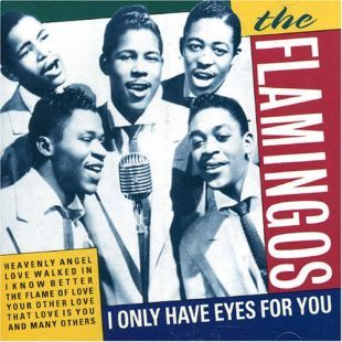 The Flamingos of the late 1950s shown on the cover of a 1997 CD featuring a compilation of 18 of their songs.
