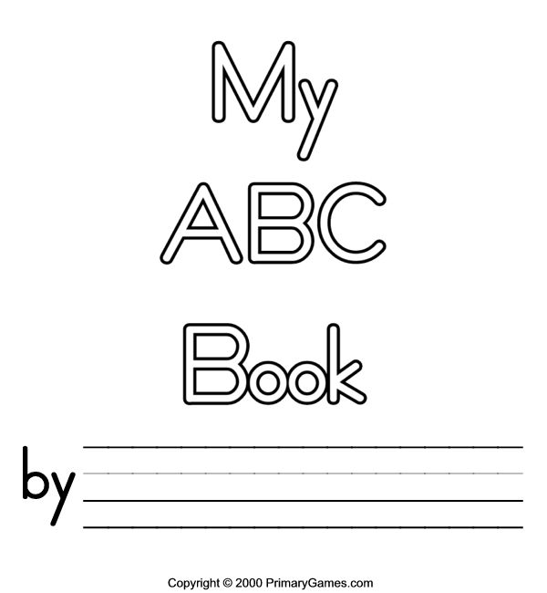 My Alphabet Book Printable Cover : Free printable abc book covers coloring pages