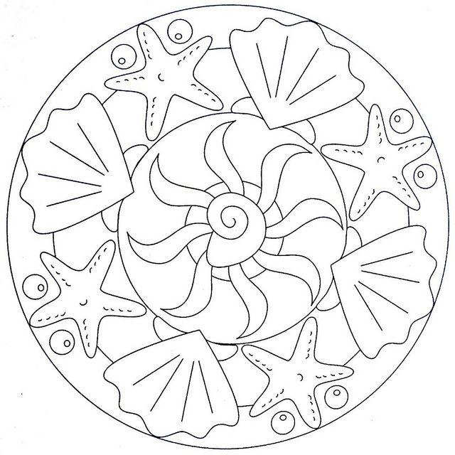 Mandala Coloring Page - Sea | Flickr - Photo Sharing!