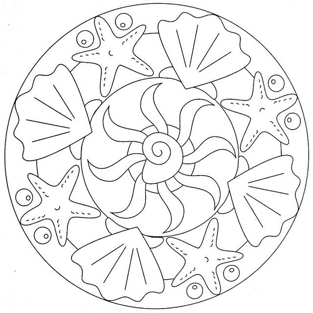 Mandala Coloring Page - Sea | Flickr - Photo Sharing!