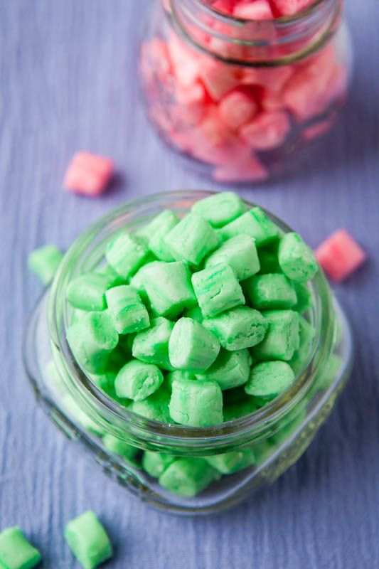 Old-Fashioned Butter Mints (no-bake, GF) - Homemade version of the smooth, melt-in-your-mouth after dinner mints at restaurants or inside your grandma's candy jar!