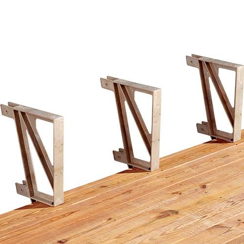 Bench Brackets For Deck Or Dock Rockler Com Building A