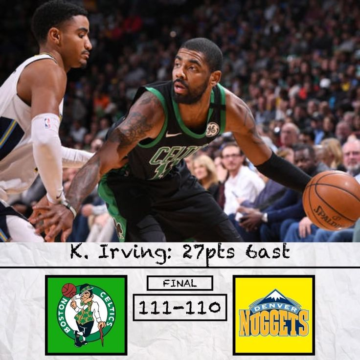 Game of the Day: Celtics vs Nuggets. Is Nikola Jokic underrated? Comment Below  .-.-.-.-.-.-.-. Wow. This game was incredible. Whats concerning for the Celtics is that they blew a 20 pt lead. Fortuenly for them Kyrie came and saved the day in the 4th quarter. Tatum had a big game he poured in 20pts on 61% shooting. This was a big step for getting him out of his slump. Obviously Kyrie played well but the big disappointment for the Celtics was Al Horford. If youre the second guy in Boston you…