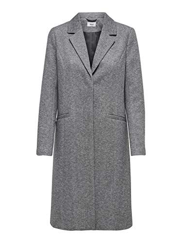 f0bf0f4b99 Only Onlisa Long Coat CC OTW Manteau Femme Gris (Light Grey Melange  Detail:Melange) 36 (Taille Fabricant: X-Small)